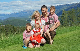 Unterberger Family: Verena, Andreas, Lukas and Felix